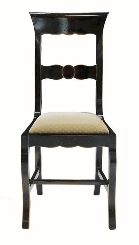 Grosseto ME.0964.T, Walnut chair with upholstered seat, in classic style