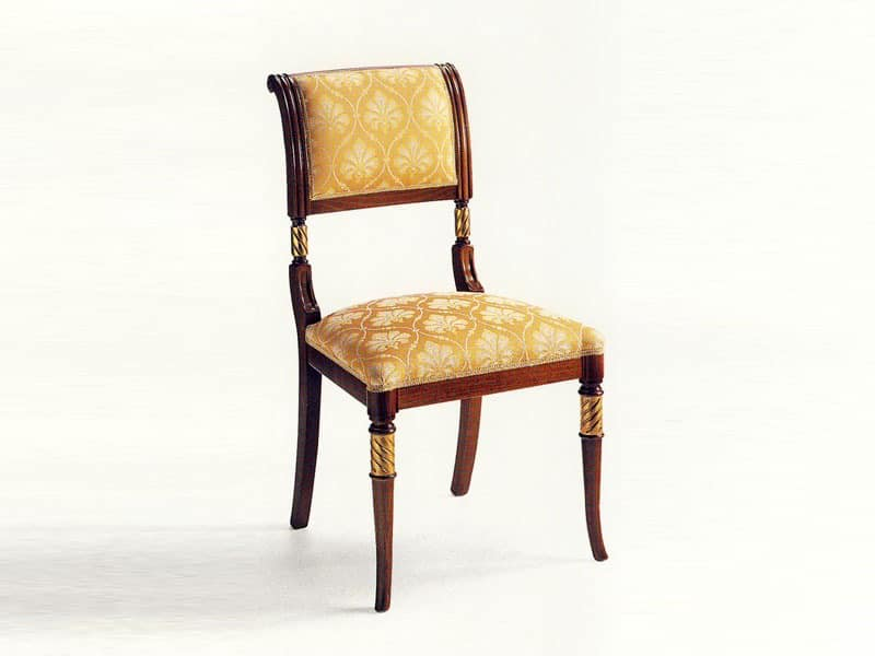 Lamb, Classic chair in wood, padded, for hotel