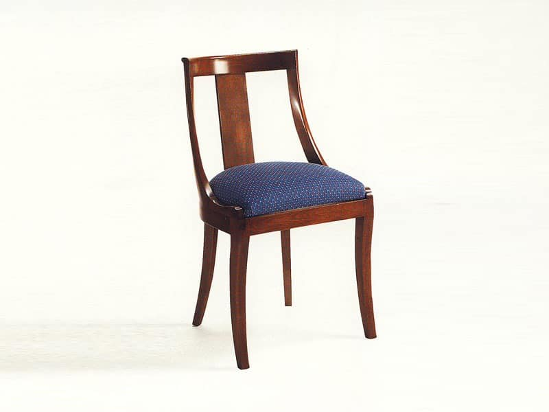 Marlowe, Classic chair in wood for dining room