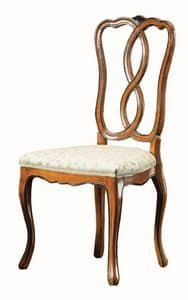 Modigliani RA.0987, Walnut chair, styled '800, for classic dining rooms