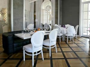 Rotondo, Padded classic chair, for luxury dining and restaurants