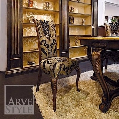 Royal chair, Classic dining chair, with precious carving