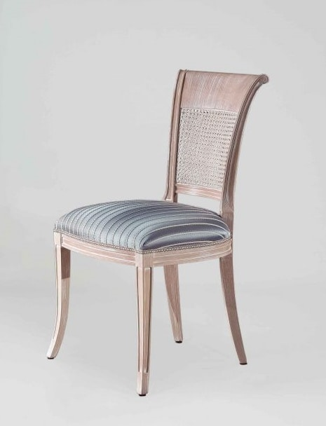 S18, Classic style chair with cane back