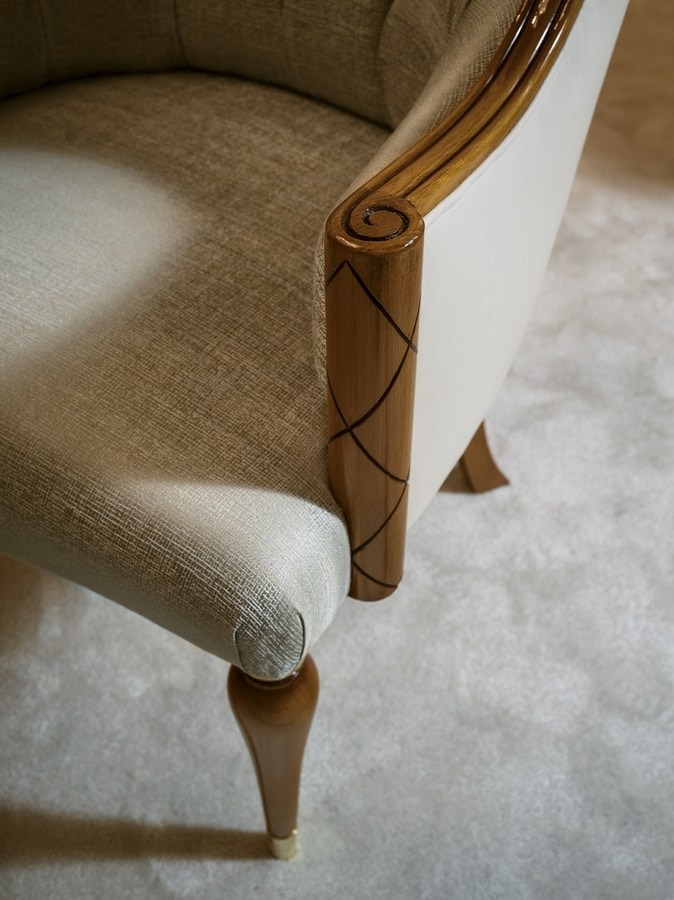 Chair 1438, Padded chair for dining table
