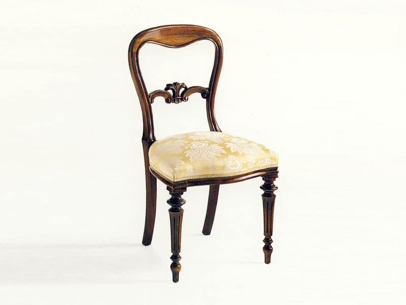 Sidney, Dining chair, classic luxury style, padded seat