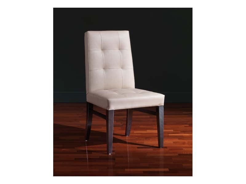 Star Chair, Multi-purpose chair, in leather, with customizable polishing