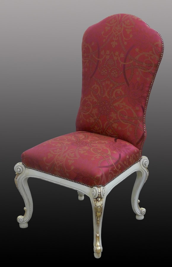Steinmetz LU.0970, Upholstered chair in wood with floral trim