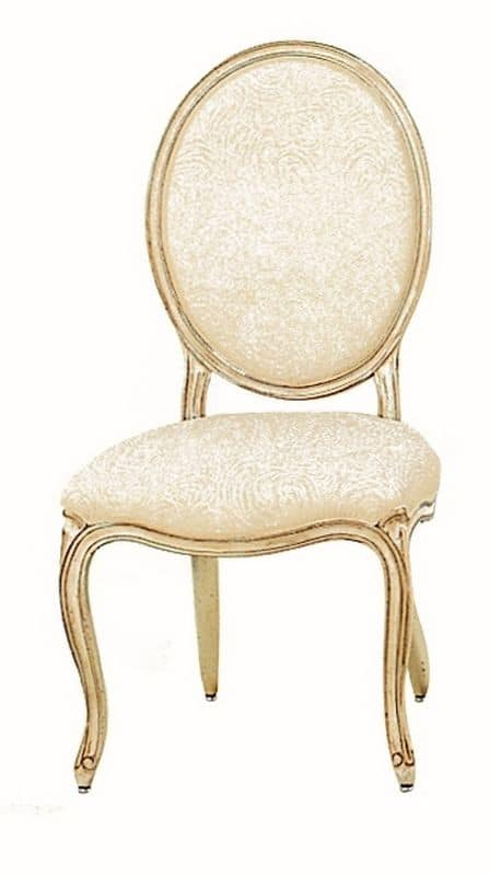Tavernier LU.0981, Classic padded wooden chair with round back