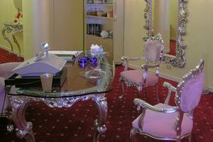Venezia silver, Glamorous baroque chair