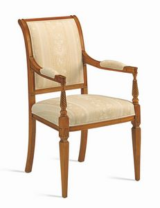 Villa Borghese chair 1371, Directoire style chair with armrests
