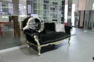 Monet Zebra, Baroque daybed, handmade, luxury classic style