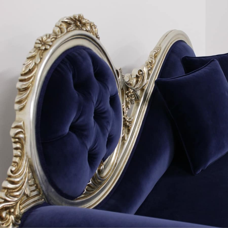 Monet Blue, Chaise longue Rococo style