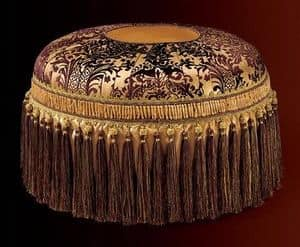 Albina pouf, Luxury classic round pouf