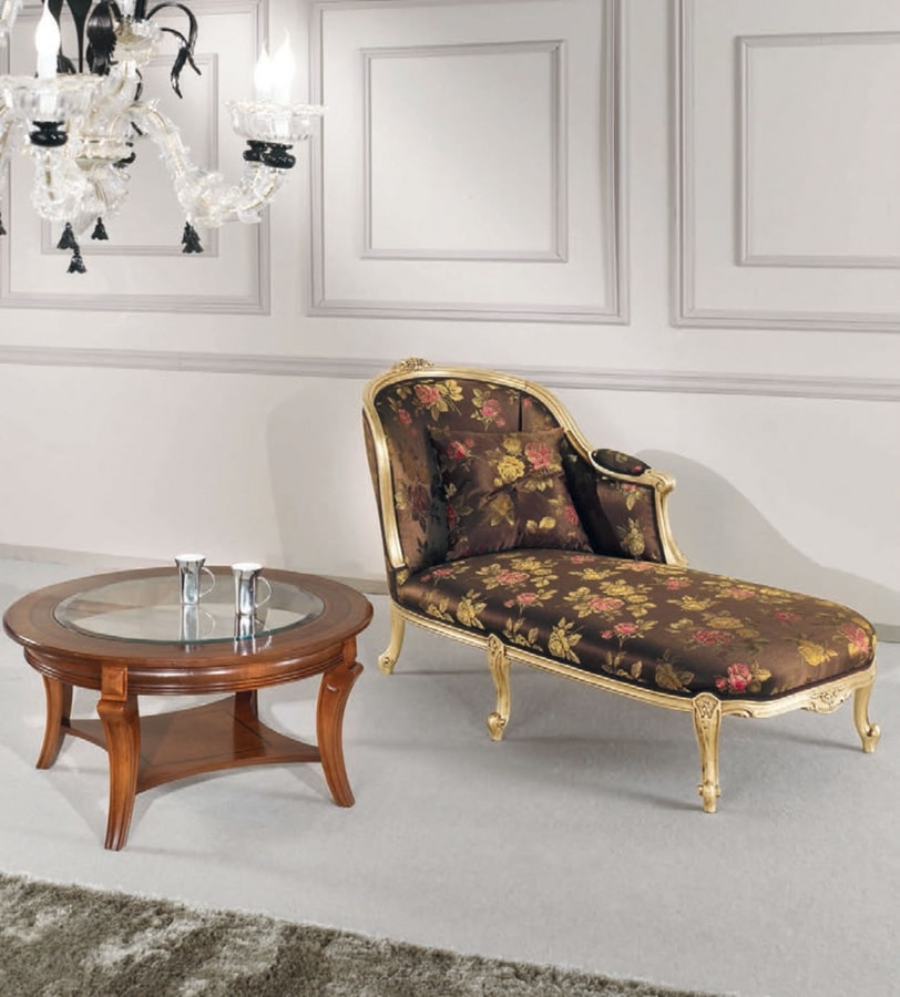 Art. 3082, Day bed in gold finish