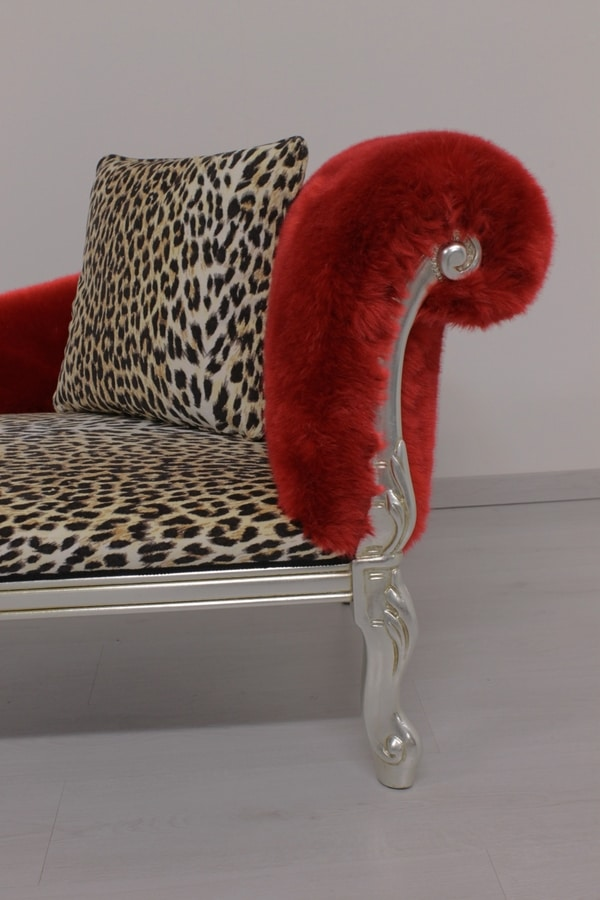 Cleopatra Animalier, Leoparded daybed, baroque style