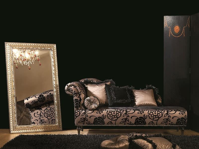 DAISY chaise longue 8545L, Chaise longue, tufted, for luxury classic office