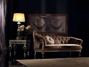 Paolina, Luxury classic chaise longue, quilted, for reception