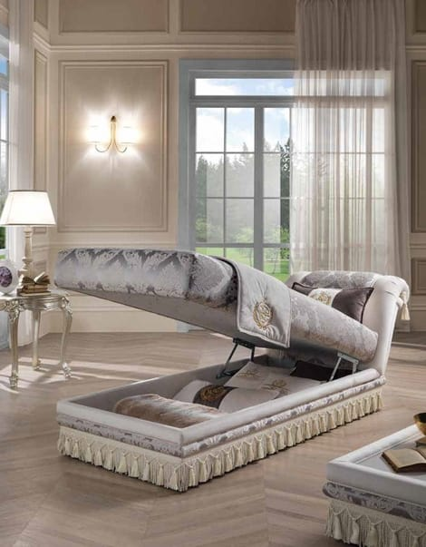 PRINCIPE dormeuse, Classic daybed, with storage unit