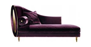 SIPARIO CHAISE LONGUE, Fabric chaise longue, classic style