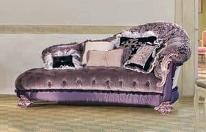 Sissy, Chaise longue in classic luxury style, for rich salons