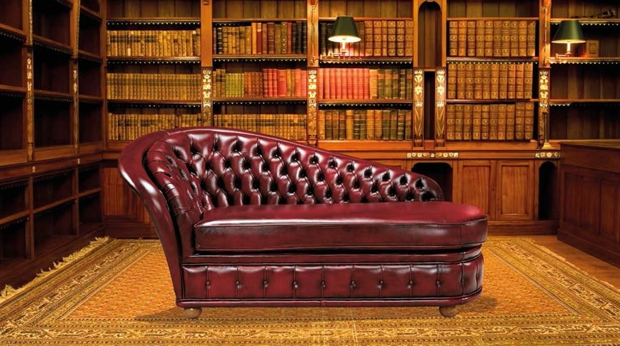 VERSAILLES dormeuse, Dormeuse in leather or fabric