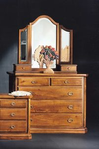 '800 chest of drawers, Classic chest of drawers in solid walnut wood