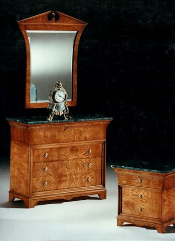 2465 chest of drawers, Classic chest of drawers, with green marble top