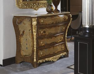 5823, Luxury chest of drawers in canaletto walnut