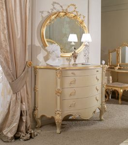 Art. 0188, Carved chest of drawers for classical bedrooms