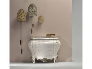 Art. 1016, Lacquered dresser with silver decorations