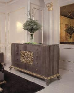 Art. 114, Chest with 4 drawers with gold finishings, luxury classic
