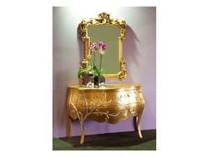 Art. 1603 Jasmine, Classic dresser, finishing gold leaf, for hotel suites
