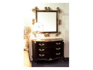 Art. 1787, Classic dresser, 3 drawers, for hotels and luxury homes