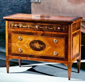 Art. 190 Musica, Classic style chest of drawers, with inlays