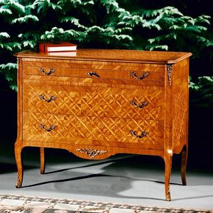 Art. 193 Diamante, Chest of drawers with diamonds in bois de rose