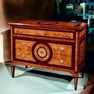 Art. 196 Rosone, Classic chest of drawers, with 3 drawers