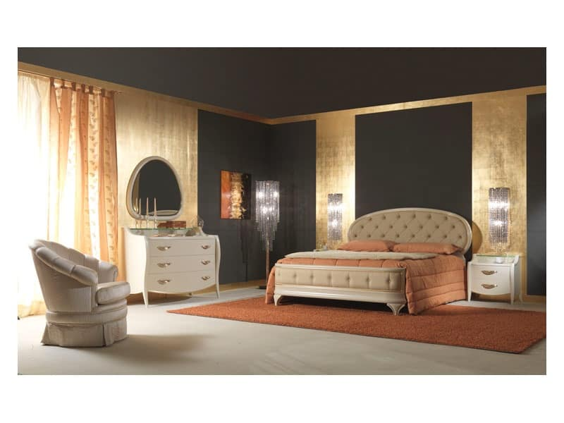 Art. 2010 Chest of Drawers, Classic dresser, for classical style bedroom, in wood