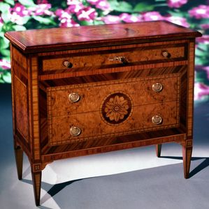 Art. 203 Rosone, Wooden chest of drawers, with classic decorations