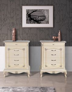 Art. 3252, Art Deco chest of drawers with patinated finish