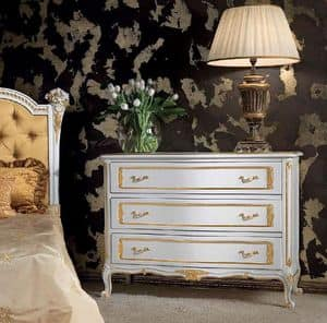 Art. 357/L, Chest of drawers made of decorated wood, classic style