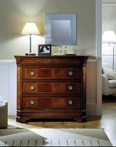 C 702, Mahogany chest of drawers with secret, luxury classic style