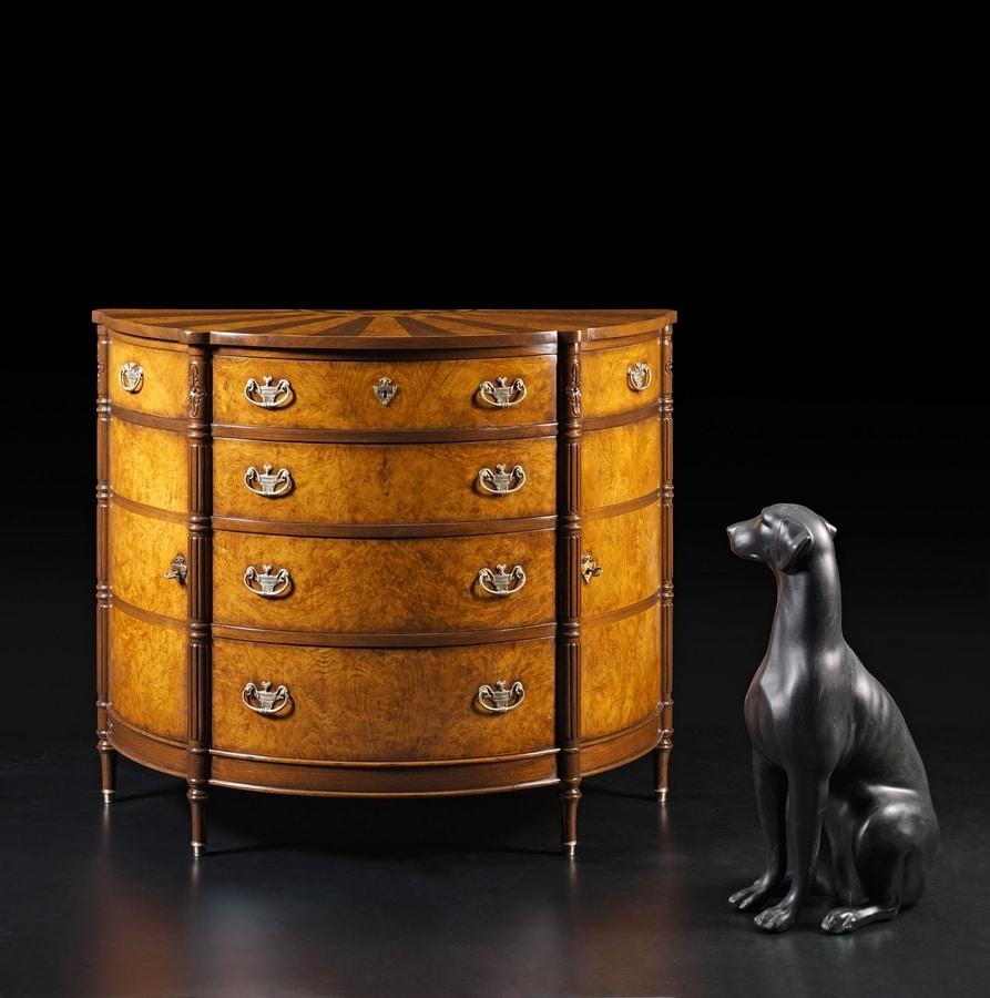 Carpaccio RA.1048, Briar crescent chest of drawers