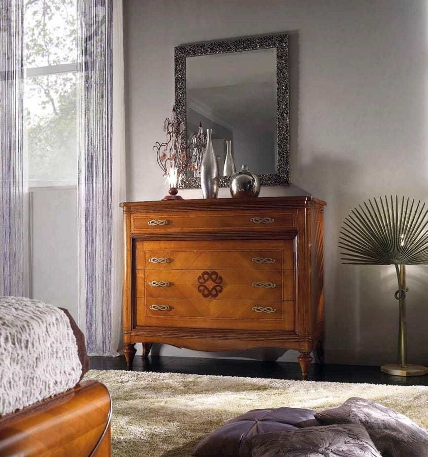 Chanel chest of drawers, Classic dresser with inlaid front