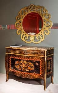 CO23 Metamorfosi, Classic chest of drawers with marble top