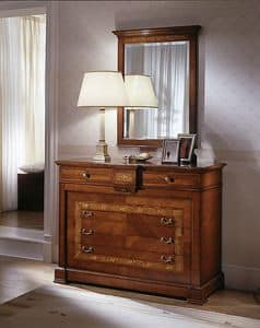 D 702, Classic dresser, in hand carved cherry