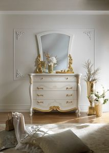 Fenice Art. 1305, Classic chest of drawers with gold details