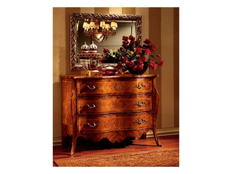 Florence chest of drawers 707, Luxury classic chest of drawers for bedroom
