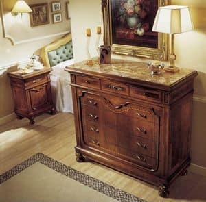 Chest of drawers, Classic chest of drawers, marble top