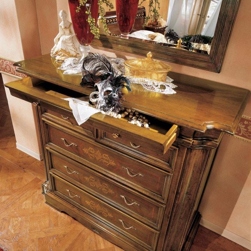 I Dogi di Venezia DOGI-E611, Classic chest of drawers with flap