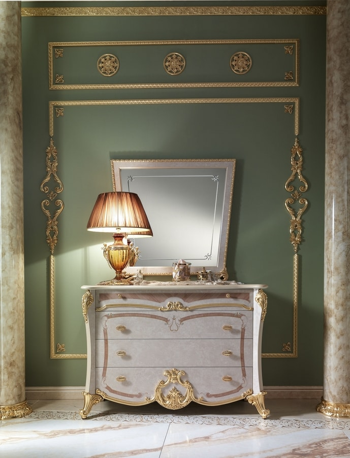 Isabelle chest of drawers, Dresser with luxurious decorations
